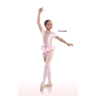 Danceries T05 Laura Kinder Ballett-Trikot, Elasthan weiss