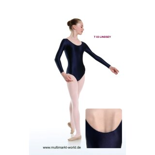 Danceries T03 LINDSEY Ballett Trikot Baumwolle schwarz