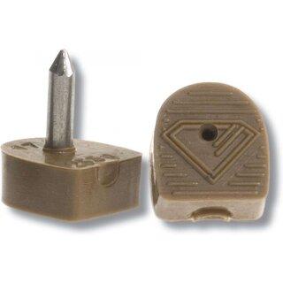 Absatzflecke Diamant HW01958 für schlanke Absätze, beige
