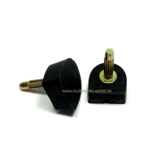 Absatzflecke Nueva Epoca NE6 Absatz 6 cm schwarz
