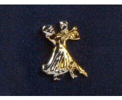 Diamant Brosche HW07972 goldfarbig klassisch