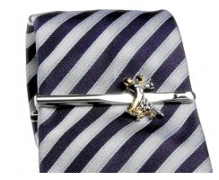 Diamant HW07976 Krawattenklammer silberfarbig