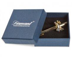 Diamant HW07977 Krawattenklammer goldfarbig