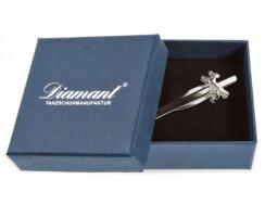 Diamant HW07978 Krawattenklammer Edelstahl