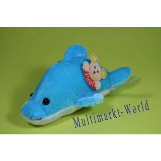 Plüschtier Delfin Paul 18 cm Farbe hellblau