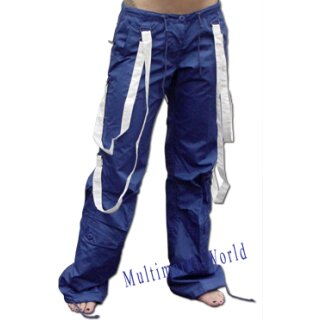 Ufohose 88416 Girl Strappy Pant blau